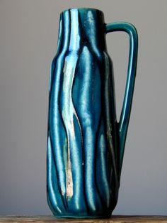 11  RARE Vintage 70  SCHEURICH 275/28 Vase Pitcher West German Pottery Fat Lava