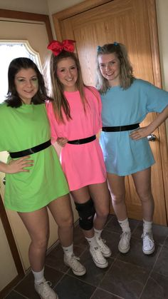 PowerPuffGirls #powerpuffgirls @kiahna.marie @zoeyhassman @teagan_hays Powerpuff Girls Halloween Costume, Cute Group Halloween Costumes, Halloween Outfits, Costumes For Sisters, Diy Girls Costumes, Powder Puff Girls Costume, Power Puff Costume, Halloween Disfraces, Squad