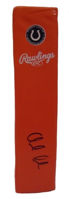 Andrew Luck Autographed Indianapolis Colts Football End Zone Touchdown Pylon, PSA/DNA Authentication