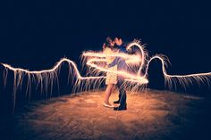 caught up in love and in light. #photography #sparklers