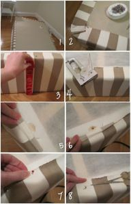 Upholster your box spring instead of using an old-fashioned bed skirt