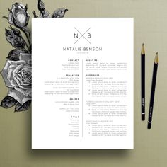 Modern Resume Template, Cover Letter Template for Word, Professional Resume Template Design, Creative Resume, Free Resume Template