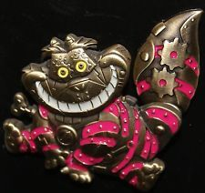 Disney ALICE IN WONDERLAND Steampunk Robot CHESHIRE CAT Animated Tail Pin