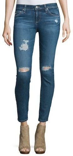 AG Adriano Goldschmied The Legging Distressed Ankle Jeans, 11 Years Swap Meet