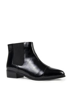 Patent Stretch Ankle Boots