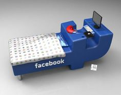 The FBed is a bed concept inspired by the Facebook logo, designed by Croatian designer Tomislav Zvonari. Taking the shape of the famous F from Facebook, the Fbed is a bed and a desk in one piece. A design dor those who are truly addicted to Facebook…