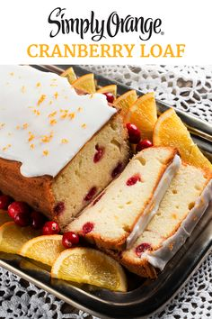 This delectable loaf cake, infused with the fresh-squeezed taste of Simply Orange® and bursting with cranberries, is perfect for your next brunch or holiday gathering.