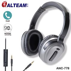 68.95$  Buy now - http://aligzn.shopchina.info/go.php?t=32799387865 - Brand ANC Active Noise Canceling Headphones Headset with Microphone Stereo for all mobile phone iPhone Xiaomi MP3 MP4 Player  #bestbuy