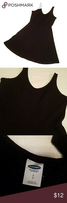 black skater  dress size small. cotton skater dress. has a stretchy section on the back Old Navy Dresses