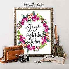 Printed and Mailed to you Wall art Nursery by PrintableVerses