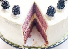 """Blackberries and Cream Cake - A yummy layer cake from """"The Cake Merchant""""."""
