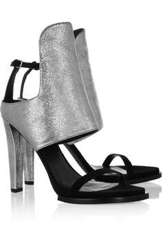 078087716e Alexander Wang Textured-leather sandals Designer Clothes Sale