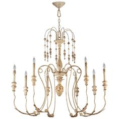 Rustic French Maison Acanthus Chandelier 8 Light Tuscan Wrought Iron Shabby Chic Chateau Country Farmhouse Light Fixture, New Orleans Vintage Design, Downton Abbey, Designer Fixture, Traditional home, French chandelier, Shabby Chic Cottage decor, Elle decor, provence, pierre deux French Country, Dining Room, Entry Foyer, Hallway, Bathroom, Home Office/Study, Living Room Light Fixture just now