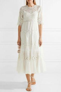 €864 ZIMMERMANN  Oleander diamond lace cotton-voile dress  €864