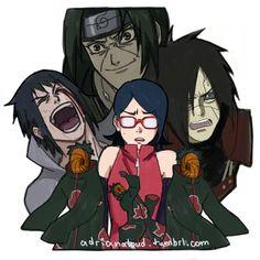 Sarada Uchiha, welcome to the family! Naruto Uzumaki, Anime Naruto, Sarada Uchiha Manga, Kakashi Sensei, Naruto Oc, Naruto Funny, Narusaku, Sarada Uchiha Wallpaper, Cosplay Steampunk