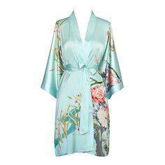Spring Floral Kimono Robe