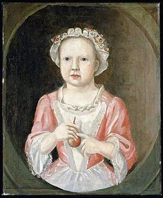 """Joseph Badger of Charlestown, Massachusetts, was a house painter who later turned to portrait painting. Badger painted """"Elizabeth Greenleaf"""" in oil sometime around 1750. The painting was a gift of Abby Aldrich Rockefeller."""