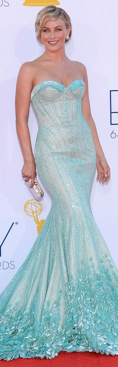 TO DIE FOR!!! Julianne Hough wore a Georges Hobieka Couture strapless gown