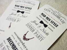 Mad Men Party Invitation - Vintage Typography - DIY Printing via Etsy