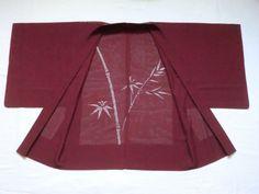 Japanese Vintage Kimono Haori Silk Purple See Through Good Condition P101513 | eBay