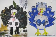 Students disguise their turkeys so they can hide from the hunters.  Here are some really cute creations.