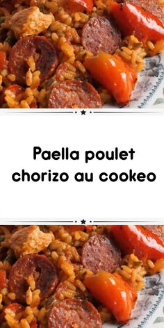 Paella chicken chorizo ​​at cookeo a delicious dish of Spanish cuisine for your main meal. Test this delicious dish with this cookeo recipe. Easy Smoothie Recipes, Healthy Dinner Recipes, Healthy Snacks, Cream Soup Recipes, Chicken Chorizo, Main Meals, Tasty Dishes, Food, Cake Recipes