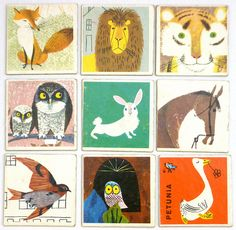Vintage Animal Memory cards / Kerry