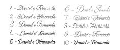 letras cursivas casamento - Pesquisa Google