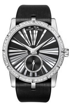 Часы Roger Dubuis RDDBEX0278  Excalibur 36 Automatic Jewellery - черные - швейцарские женские наручные часы