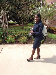 College Business Professional Look, Wednesday Dress for Success