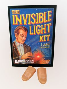 THE INVISIBLE LIGHT KIT.... A red light magically appears on the tip of your thumb. You make It travel from hand to hand. You place it in your mouth and pull it out your belly button. Because only you know the secret of The Invisible Light. theonestopfunshop.com