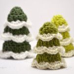 DIY Crocheted Christmas Trees