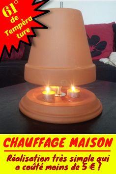 Terracotta Pots, Frugal, Pergola, Diy And Crafts, Life Hacks, Table Lamp, Simple, Bons Plans, Home Decor