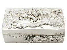 Chinese Export Silver Box - Antique Circa 1900 SKU: A3665 Price GBP £1,995.00 http://www.acsilver.co.uk/shop/pc/Chinese-Export-Silver-Box-Antique-Circa-1900-42p7754.htm#.Vji3JSs8rfc