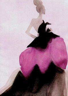 1950's Dior Fashion Sketch    http://www.pinterest.com/adisavoiaditrev/boards/