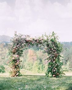The ceremony arch an