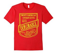 5fede0d7f46 Mens Deplorable Conservative Patriot and Voter T-Shirt 2X... https