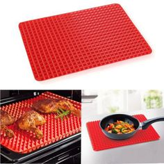 2016 Hot Sale Red Bakeware Pan Nonstick Silicone Baking Mat Pads Easy Method for Oven Baking Tray Sheet Kitchen Tools