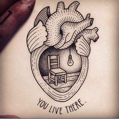 #youlivethere #dotwork #blackwork #tattoo #ornamental #tattooinspiration #heart #beautiful #art