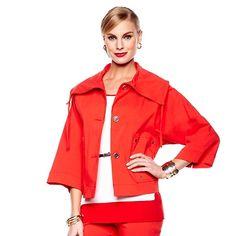 MarlaWynne Drawstring Collar Jacket