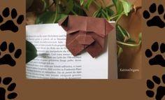 Bulldog bookmark origami
