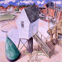 View the painting: Norfolk Wells-next-the-Sea by Francis Farmar John Galliano, Agatha Raisin Books, Clarks, Wells Next The Sea, Steve Madden, Coastal Art, Naive Art, Norfolk, Britain