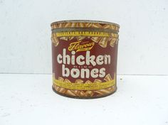 Chicken Bones Candy Tin Rare Find Vintage by TheRetroRanch on Etsy, $20.00 #weird #candy #homedecor