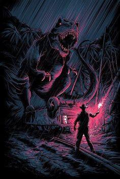 Jurassic Park by Dan Mumford Jurassic Park by Dan Mumford - Home of the Alternative Movie Poster - Jurassic Park Poster, Jurassic Park Party, Jurassic Park World, Dan Mumford, Michael Crichton, Jurassic World Fallen Kingdom, Culture Pop, Falling Kingdoms, Park Art