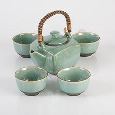 Celadon Tea Set, Japanese Teapot - I love the colour of this