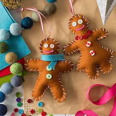 So cute, felt Gingerbread Men!