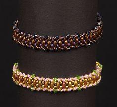 Twin Flat Spiral Bracelet Tutorial by NEDbeads on Etsy