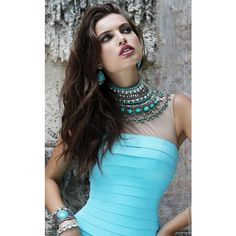 Sherri Hill 32080 After Prom Long High Neckline Sleeveless ($398) ❤ liked on Polyvore featuring dresses, aqua, cocktail dresses, homecoming dresses, short homecoming dresses, high neck homecoming dresses, long slip and cocktail prom dress