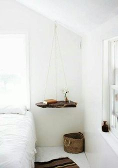 Hanging end table.