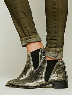 """Free People silver """"Centinela"""" ankle boots"""
